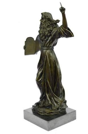 Moses Bust Jewish Christian Bronze Statue