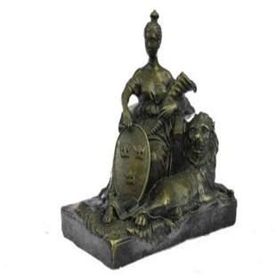 Opulent of Royal Woman Bronze Statue