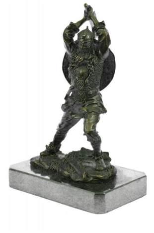 Warrior Wields his Labrys Bronze Sculpture