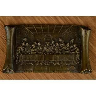 Last Supper a Tribute to Leonardo da Vinci Bronze