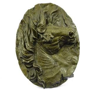 Bust Horse Head Bronze Sculpture