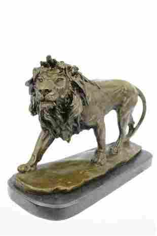 Male African Lion Bronze Sculpture