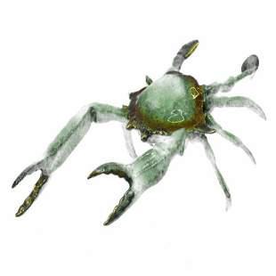 Blue Crab Bronze Sculpture