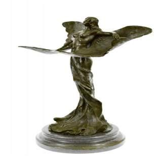 Wearing Butterfly Wings Bronze Sculpture