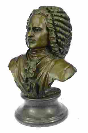 Johann Sebastian Bach The father of Music head Bronze