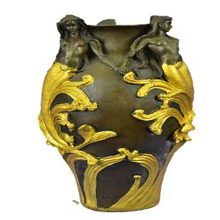 Vase Planter Bronze Statue