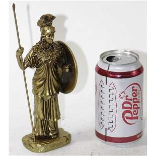 Athena Holding Javelin with Shield Wisdom Cold Cast