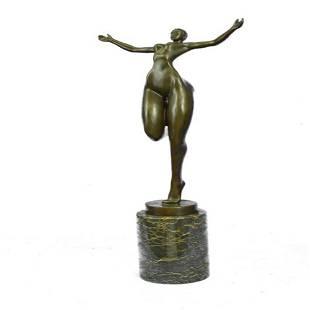 Nude Girl Bronze Sculpture