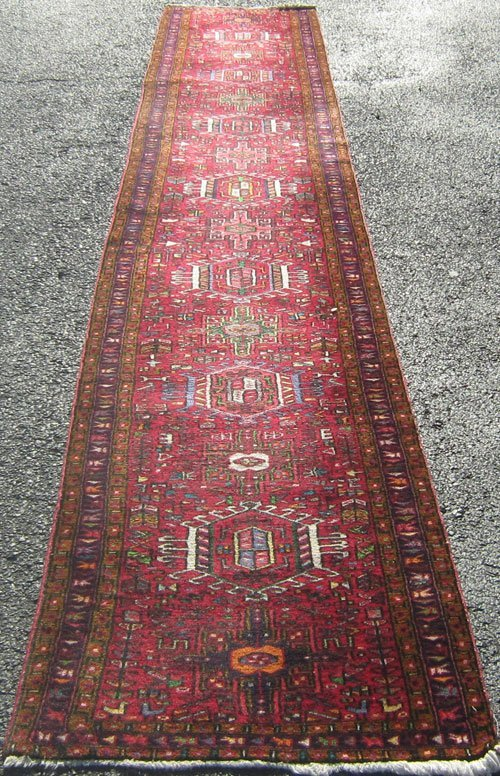Spectacular persian heriz runner