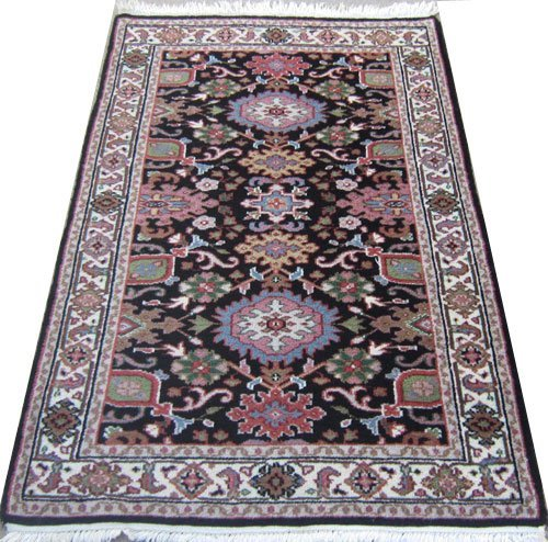 lustrous indian heriz design rug