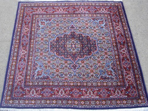 Splendid intricately designed persian moud mashad rug