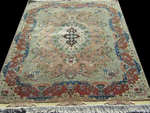 Fabulous super fine part silk persian tabriz