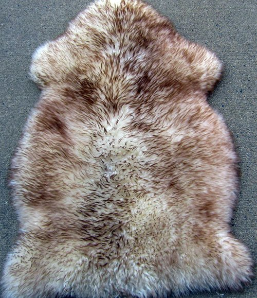 Floor rug lamb fur