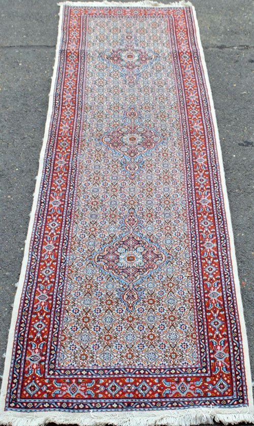 Hand woven all natural dye Persian Bidjar Runner