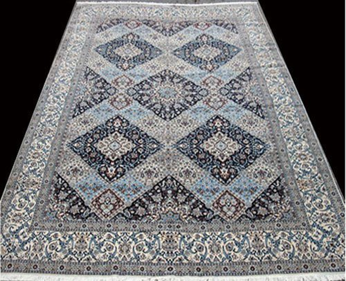 Masterpiece rare part silk finest Nain-Isfahan rug