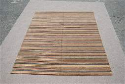 hand woven Indian wool pile on cotton foundation Rug