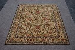 hand woven, Indian wool pile on cotton foundation Rug