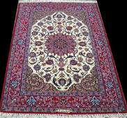 breathtaking hand knotted signed part silk fine Persian