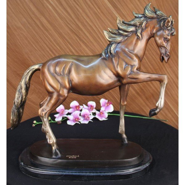 "25 LBS Bronze Racing Horse ""The Final Furlong"""
