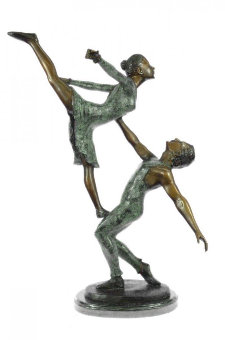 17 LBS Ballerina Piece Bronze sculpture on marble base