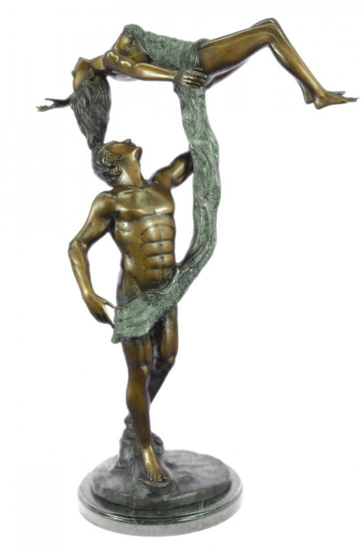 25 LBS Ballerina Dancer Bronze Sculpture on marble base