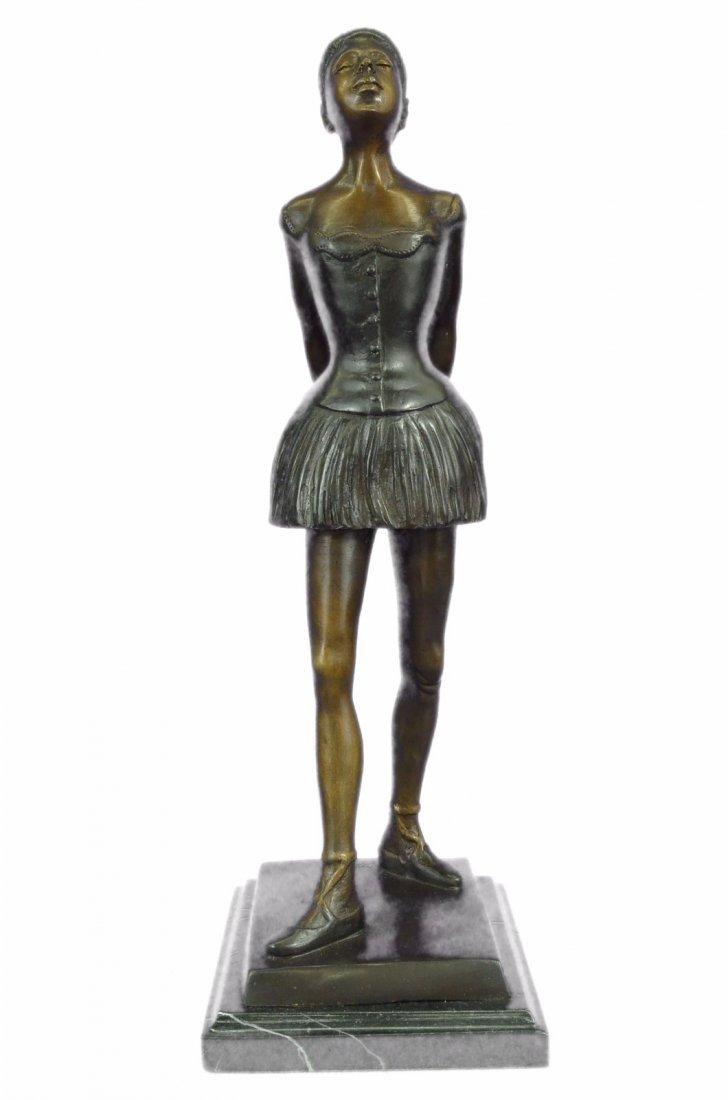 12 LBS Tribute To Degas Little Ballerina Bronze