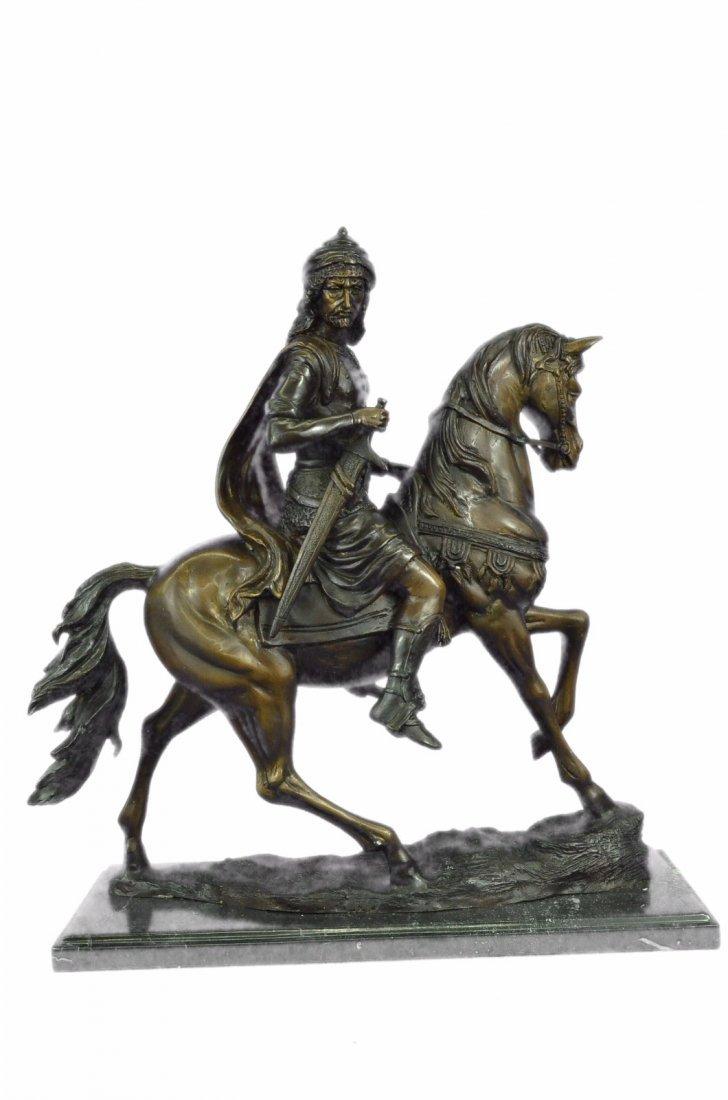 34 LBS Degas Large Arab Prince Sitting On Arabian Horse