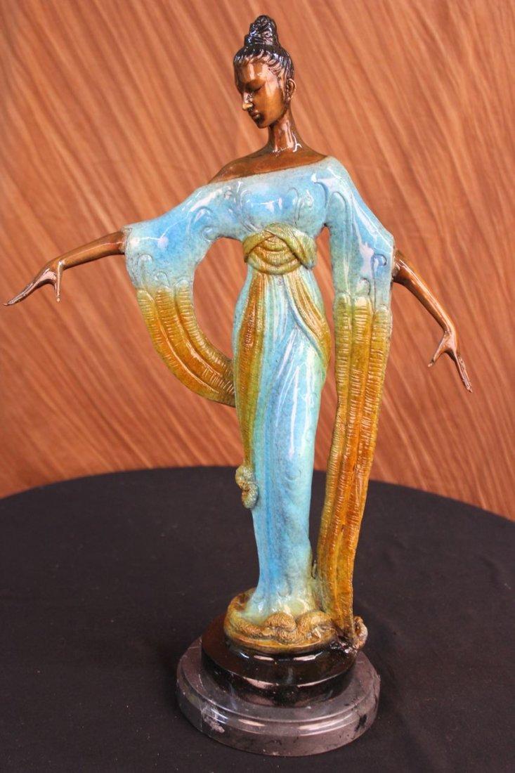 12 LBS Bronze Sculpture Gorgeous Woman Blossom Art