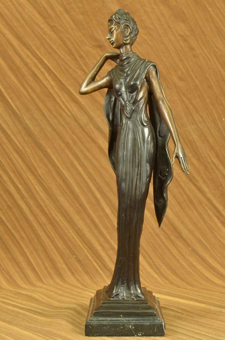 "12 LBS Bronze Statue Dancer Jazz Club Figurine (19""X7"")"