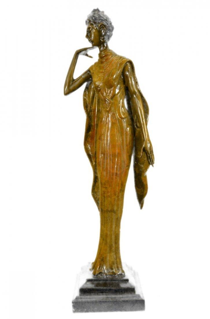 12 LBS Art Deco Theater Jazz Dancer Bronze Sculpture on