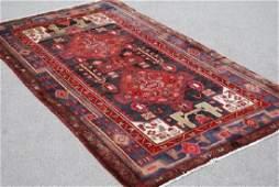 Splendid semi antique handmade Heriz Persian Rug
