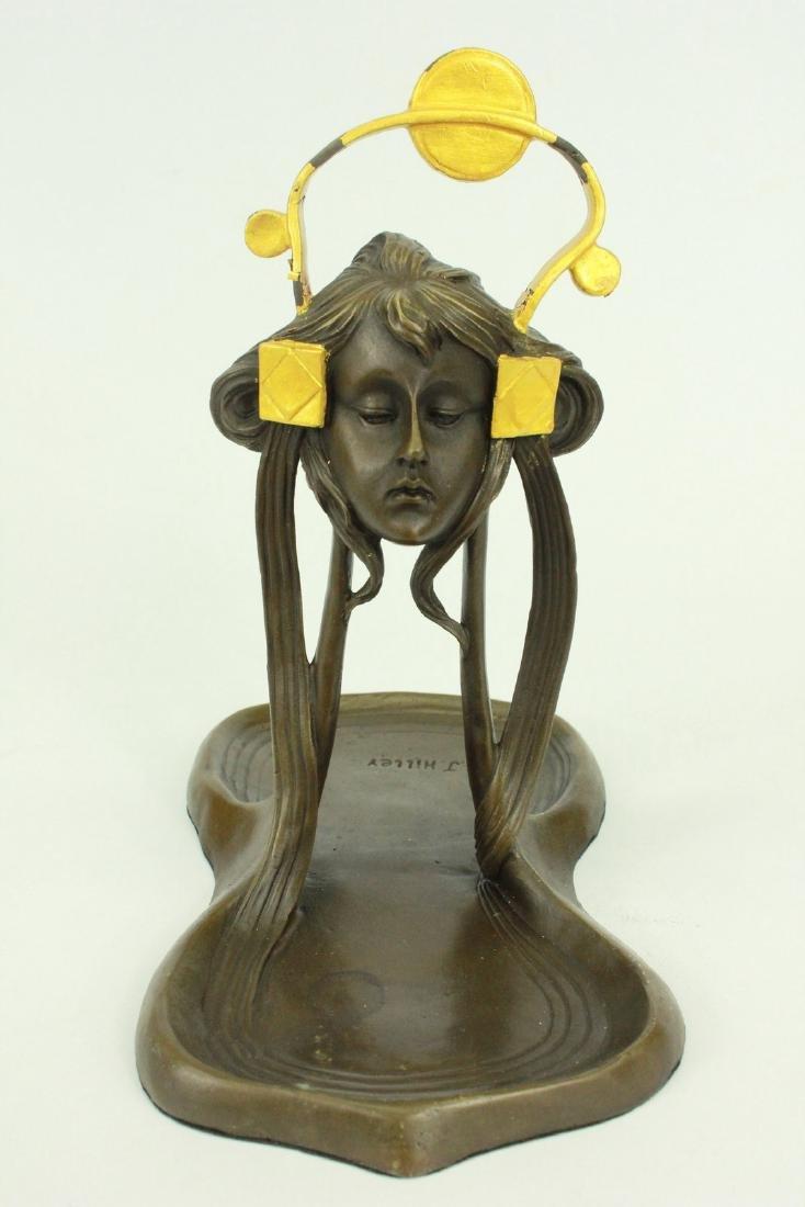 Candy Dish Bronze Figural Sculpture