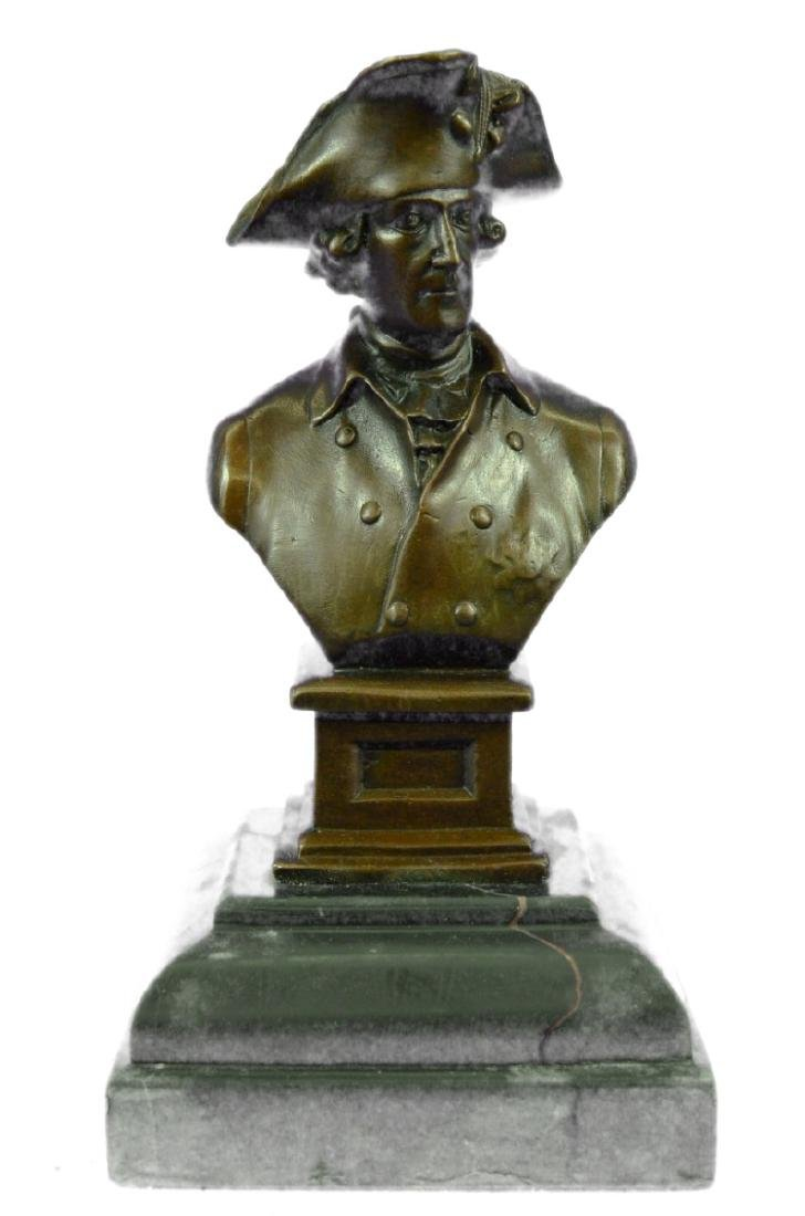 Napoleon Military Bronze Sculpture on marble base