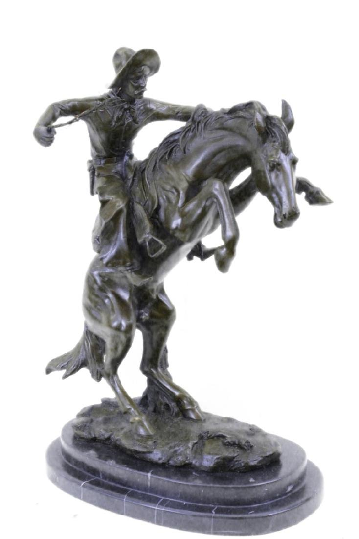 Wild American Classic West Cowboy Sculpture on marble