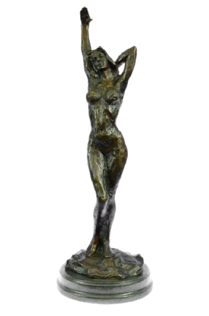 Sexy Female Bronze Sculpture on marble base Statue