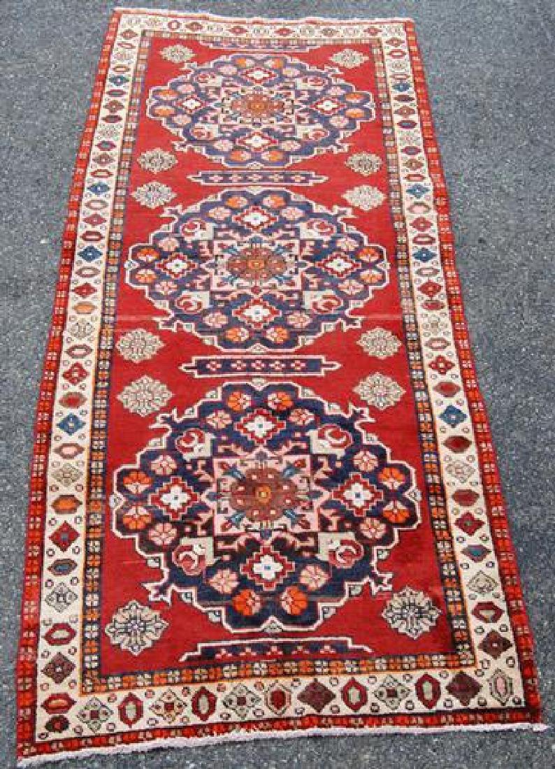Very Lovely Hand Woven Persian Karajeh Runner 12.9 X