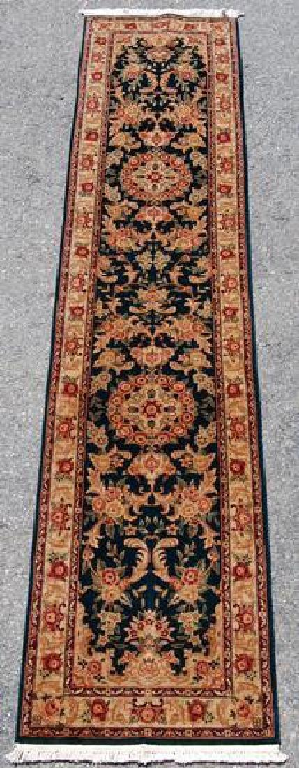 Nice Tabriz Design Runner W/silk Highlights 2.3 X 10