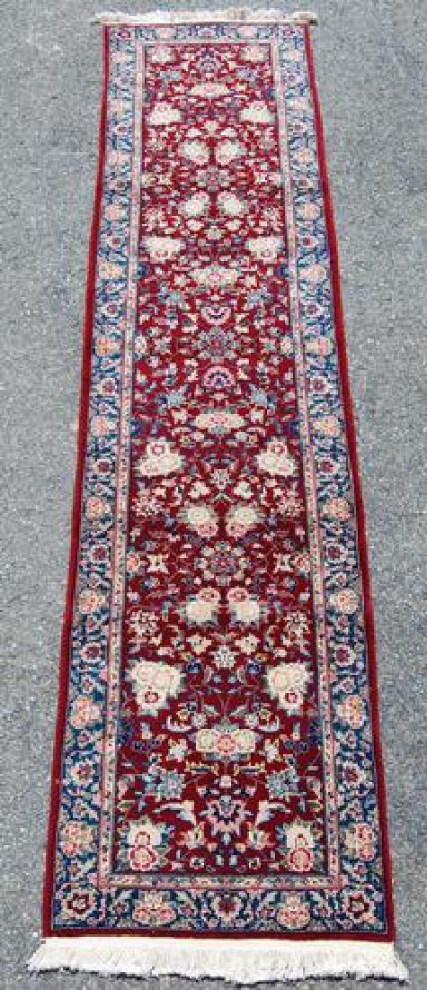 Simply Beautiful Kashan Design Runner W/Silk Highlights
