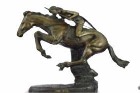 Cheyenne Bronze Statue Mustang Horse Sculpture
