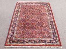 Simply Beautiful Allover Floral Mahal Design Indo Rug
