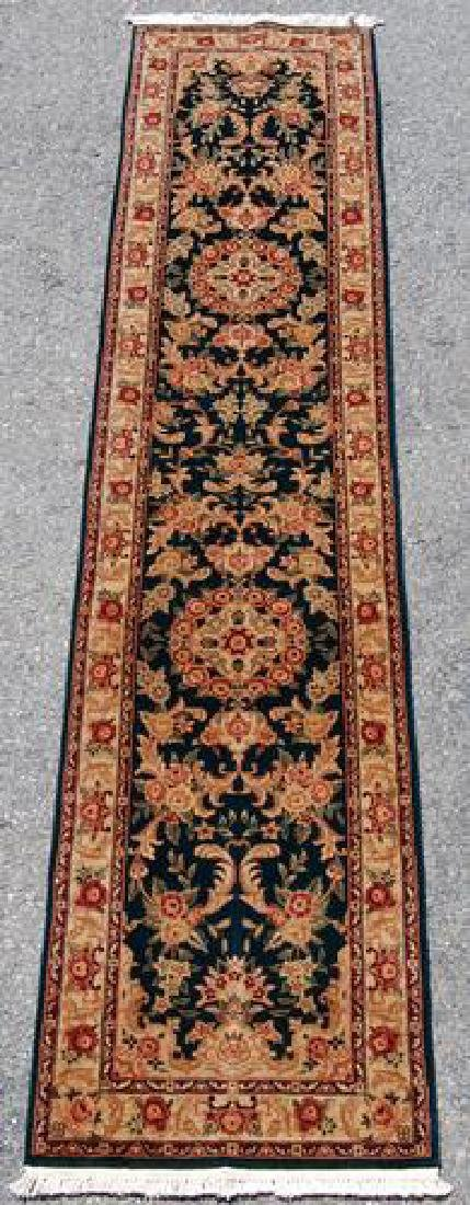 Nice Tabriz Design Runner W/silk Highlights