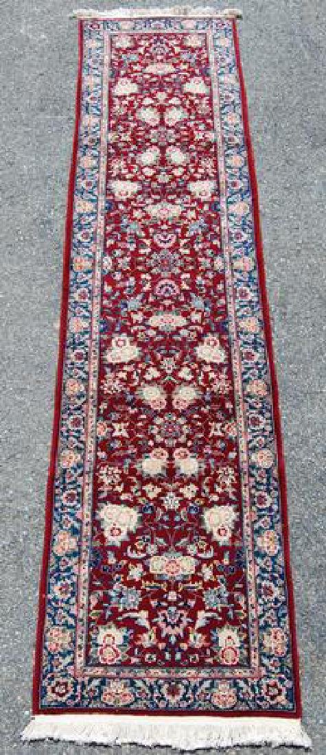 Simply Beautiful Kashan Design Runner W/Silk Highlights