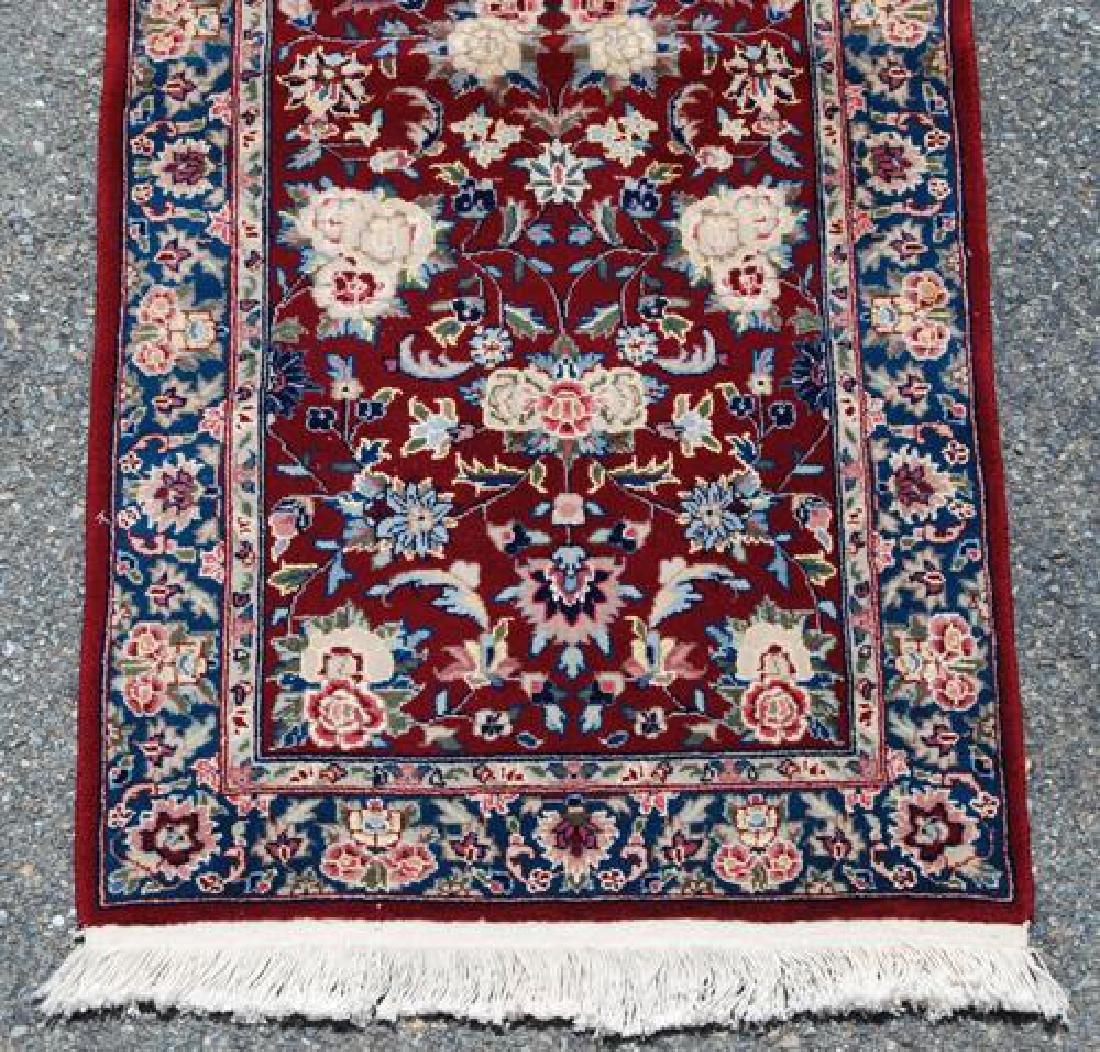 Simply Beautiful Kashan Design Runner W/Silk Highlights - 3