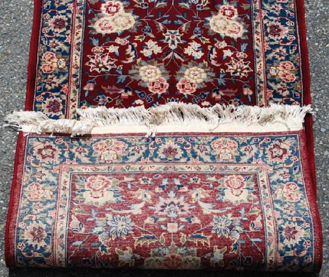 Simply Beautiful Kashan Design Runner W/Silk Highlights - 4