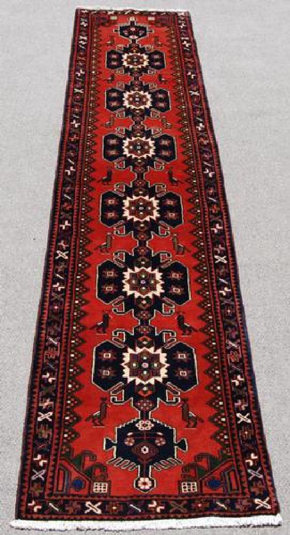 Very Rare Handmade Persian Hamedan Runner - 2