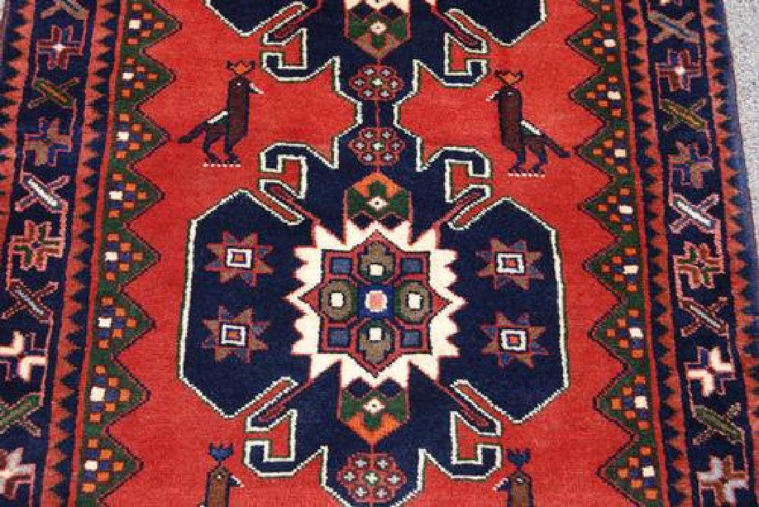 Very Rare Handmade Persian Hamedan Runner - 3