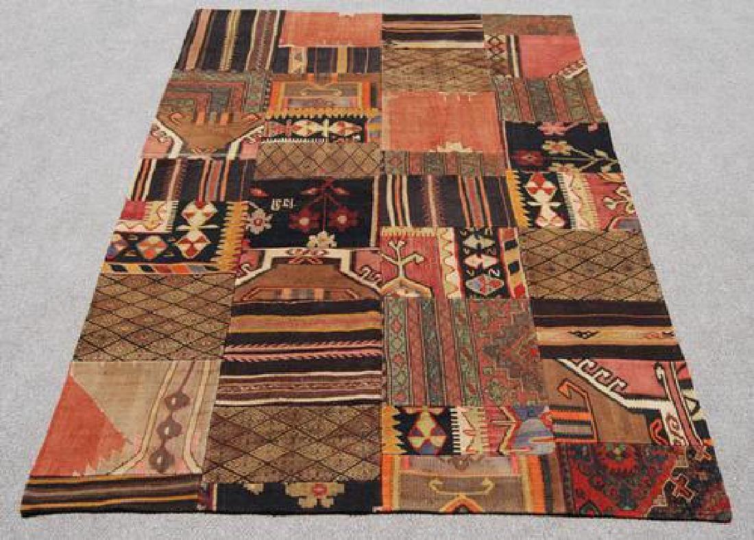 ABSOLUTELY SPECTACULAR HANDMADE TURKISH PATCHWORK KILIM