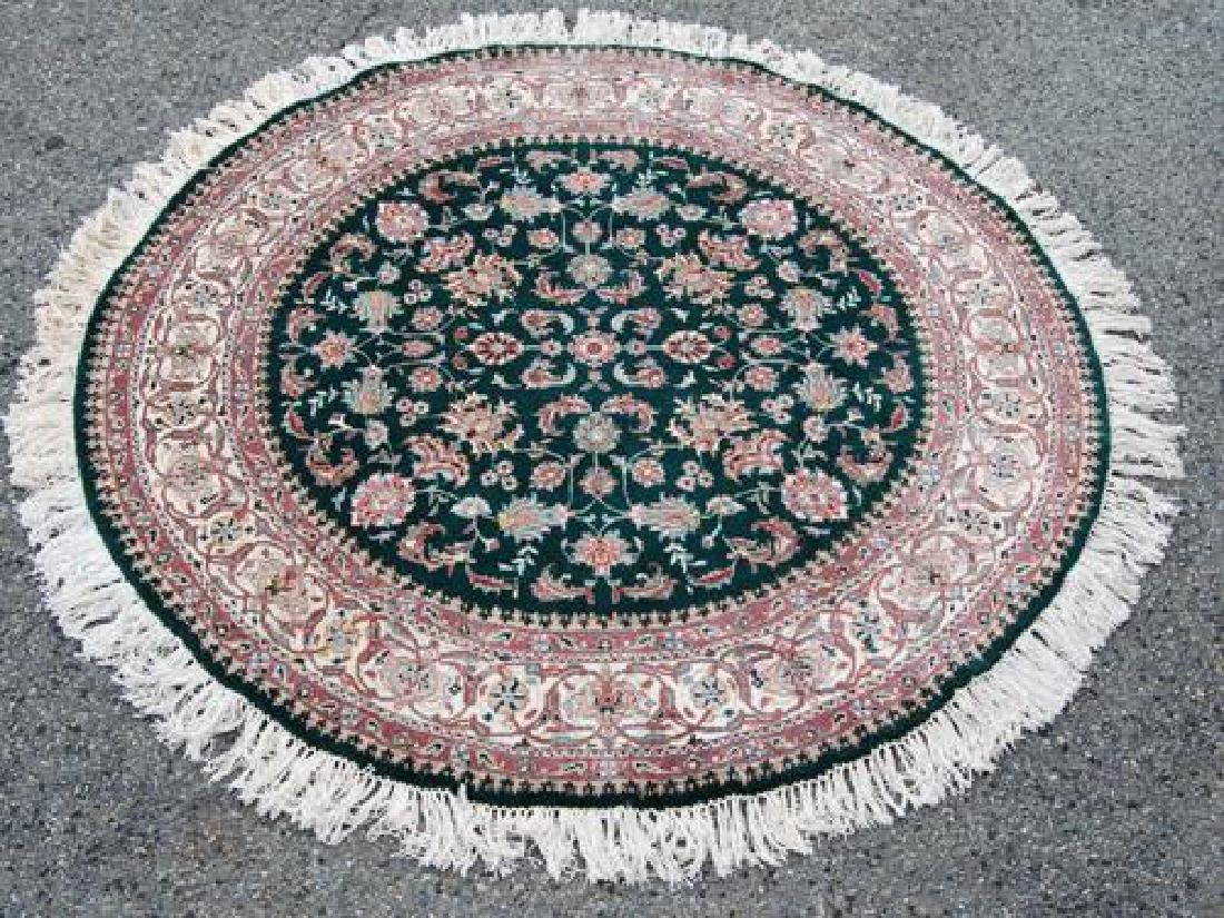 Hand Woven Tabriz Design 6' Round Rug