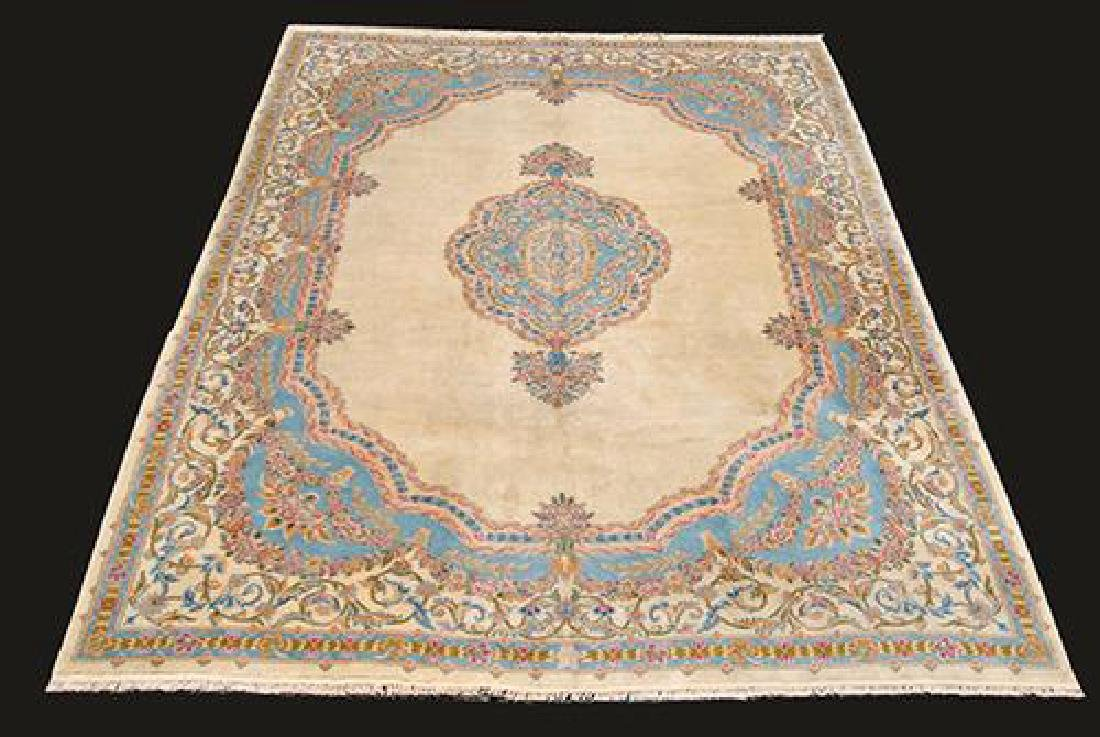 Hard to Find Semi Antique Hand Woven Kerman Rug