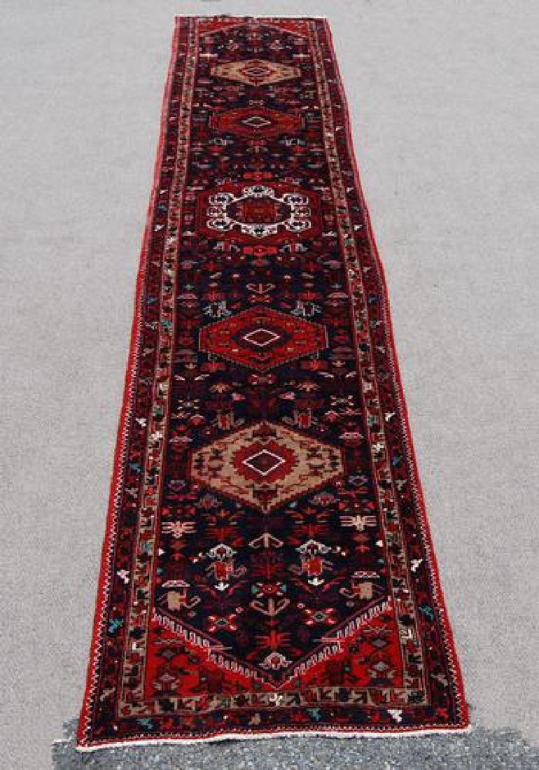Fine Quality Dazzling 3.3 X 17.3 feet Persian Zanjan